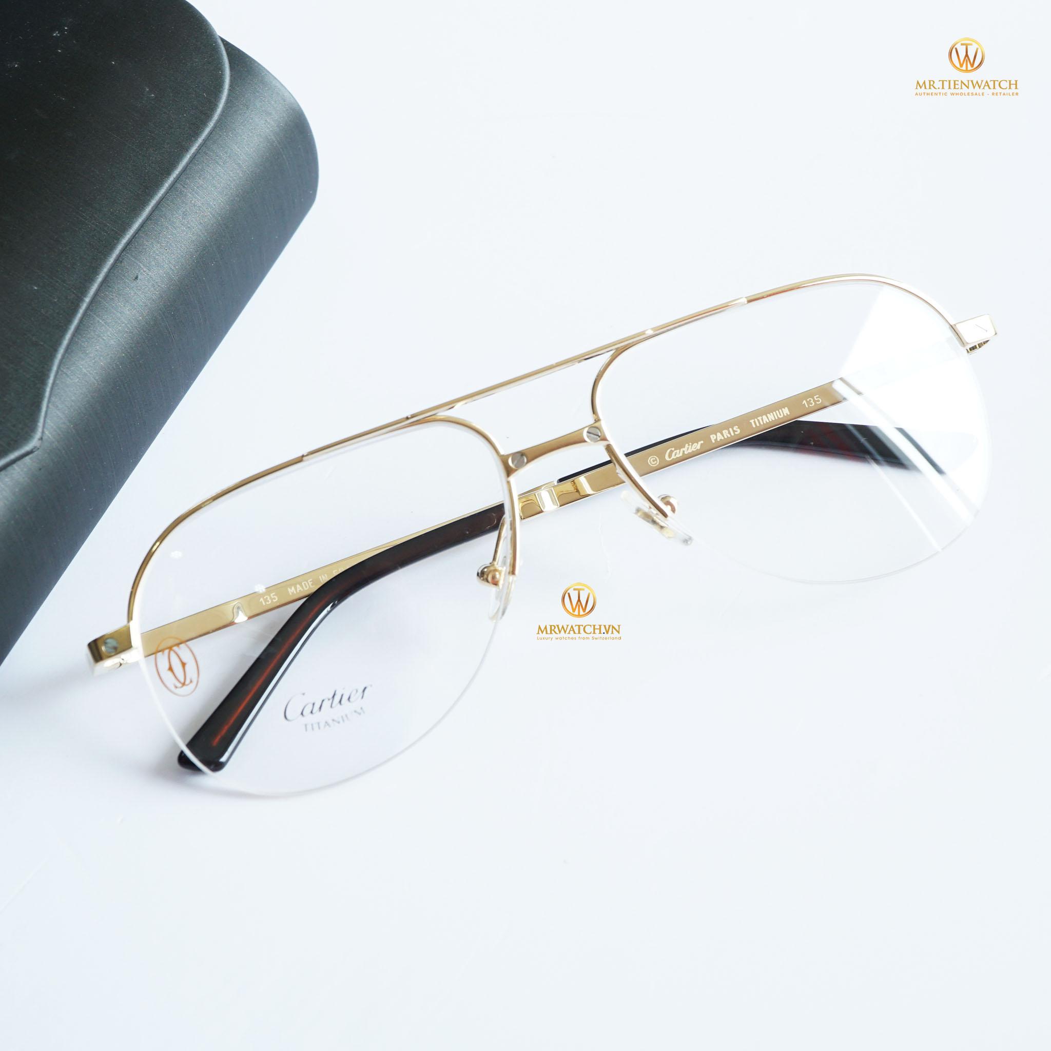 Cartier De Santos T8100929 Titanium Bọc vàng 18K