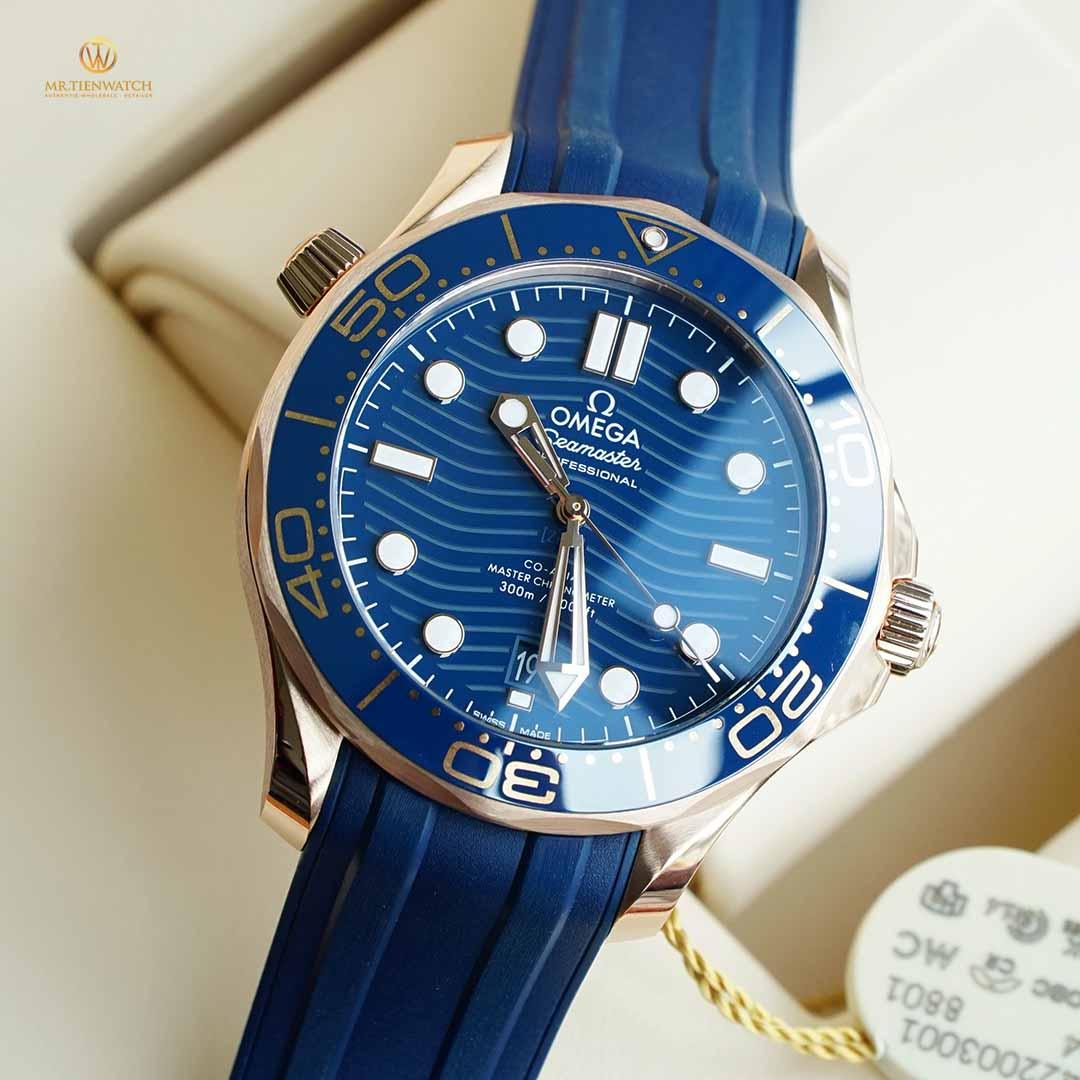 Omega SeaMaster Diver 300M Co-Axial Master Chronometer 42 MM DIVER 300M 210.62.42.20.03.001 vàng nguyên khối 18K Sedna Gold