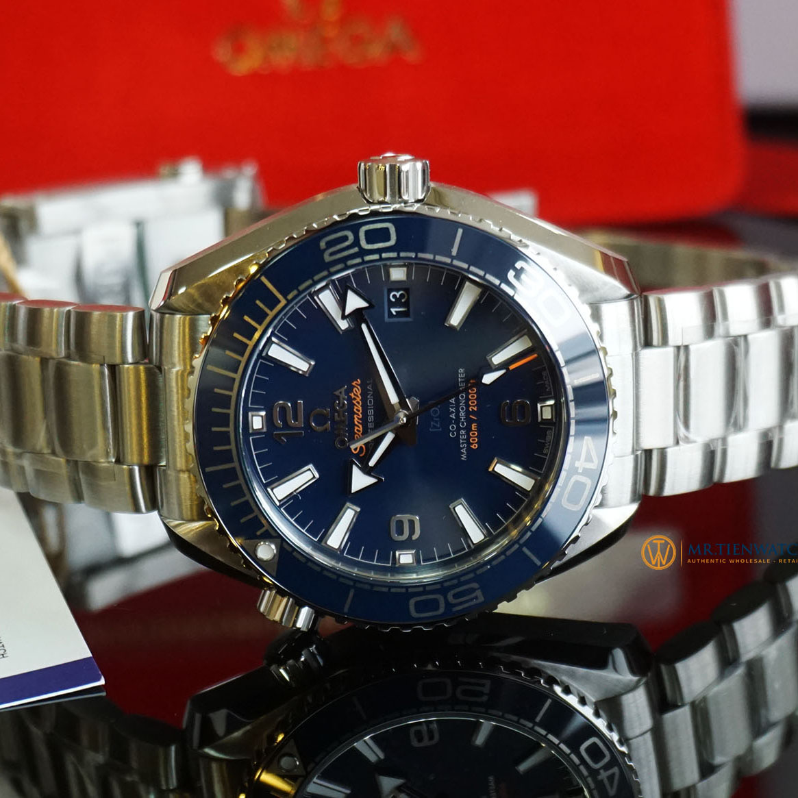 OMEGA SEAMASTER PLANET OCEAN 600M CO‑AXIAL MASTER CHRONOMETER 39.5 MM 215.30.40.20.03.001 Thép không gỉ - Steel on Steel