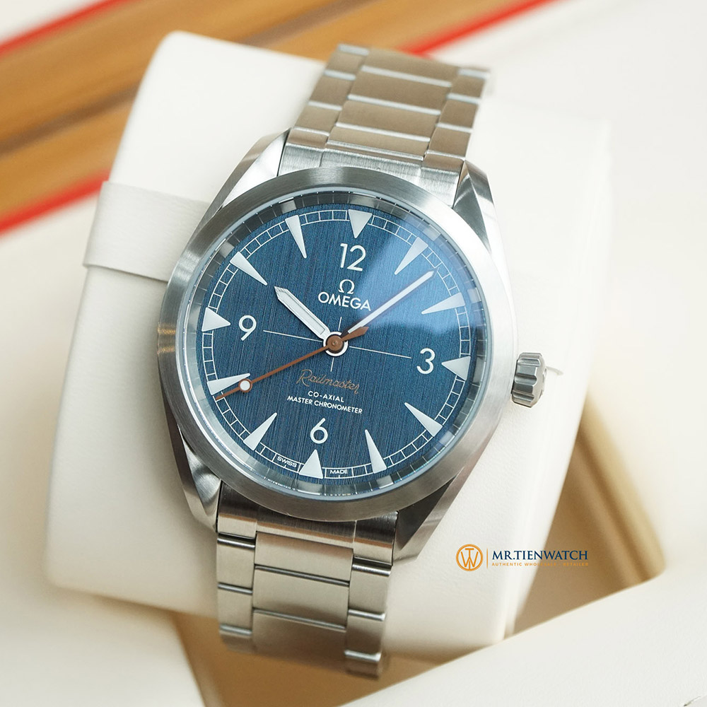OMEGA SEAMASTER RAILMASTER CO‑AXIAL MASTER CHRONOMETER 40 MM 220.10.40.20.03.001 Thép không gỉ - Steel on Steel