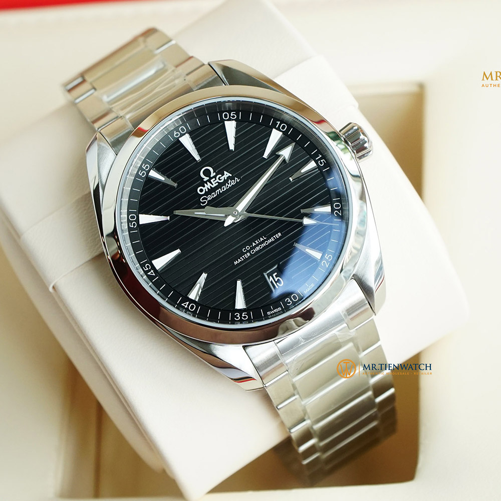 OMEGA SEAMASTER AQUA TERRA 150M CO‑AXIAL MASTER CHRONOMETER 41 MM 220.10.41.21.01.001 Thép không gỉ - Steel on steel