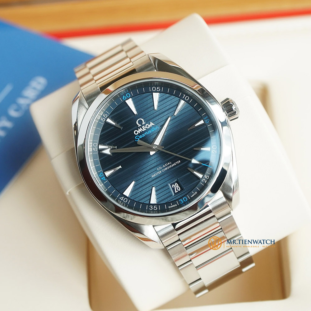 OMEGA SEAMASTER AQUA TERRA 150M CO‑AXIAL MASTER CHRONOMETER 41 MM 220.10.41.21.03.001 Thép không gỉ - Steel on steel