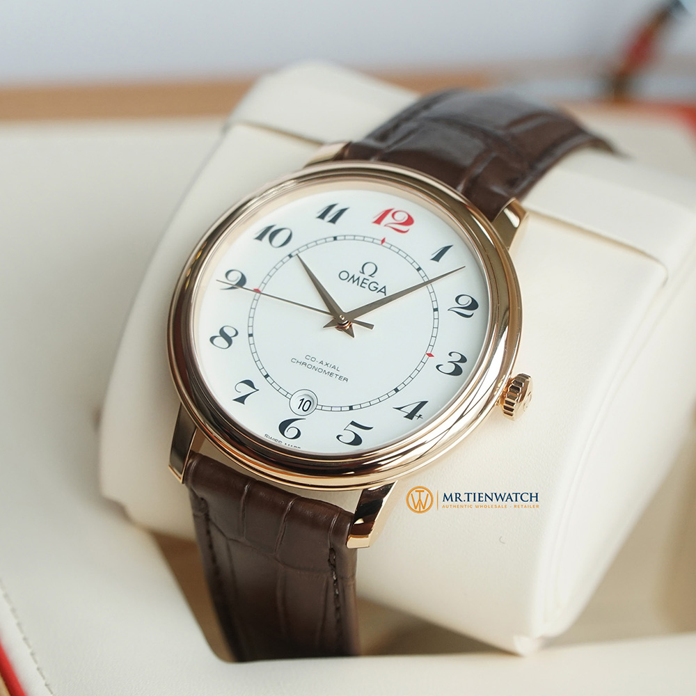 OMEGA DE-VILLE PRESTIGE CO-AXIAL RED GOLD 50TH ANNIVERSARY LEATHER STRAP 39.5 MM 424.53.40.20.04.004 Vàng đỏ 18k - Red Gold 18k