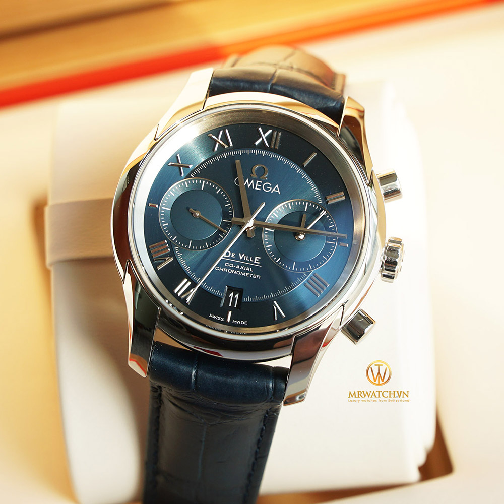 OMEGA DE-VILLE CO‑AXIAL CHRONOGRAPH 42 MM 431.13.42.51.03.001 Thép không gỉ - Steel on steel