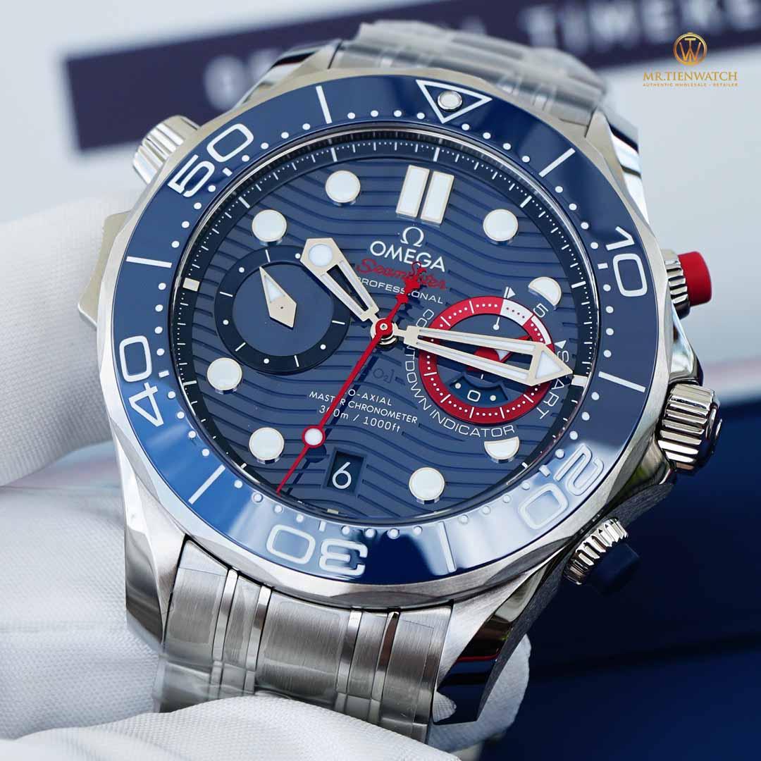 Omega SeaMaster Diver 300M Co‑Axial Master Chrnonometer 44 MM America's Cup 210.30.44.51.03.002 Phiên bản đặc biệt kỉ niệm America's Cup lần 36