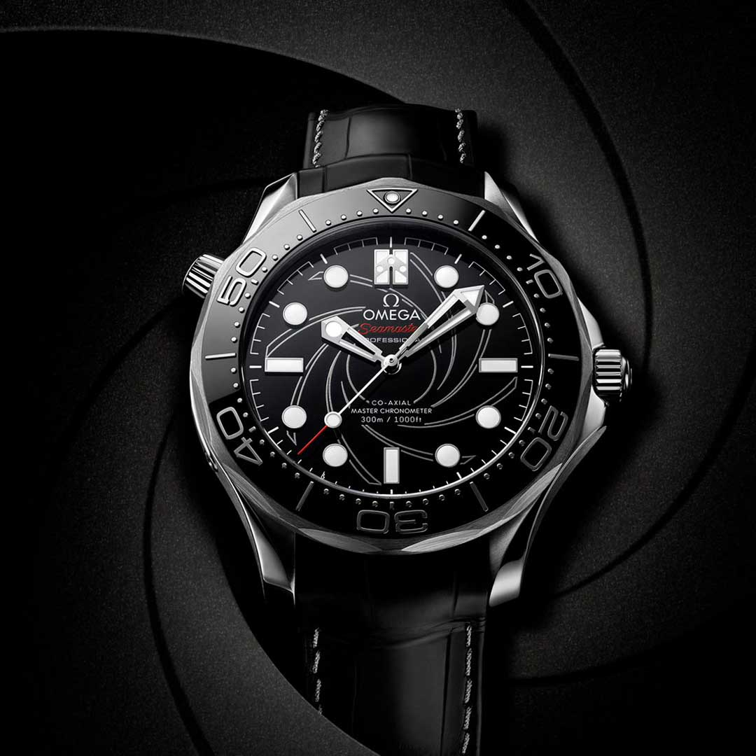 """OMEGA SEAMASTER DIVER 300M CO‑AXIAL MASTER CHRONOMETER 42 MM 210.93.42.20.01.001 """"James Bond"""" Numbered Edition Platinum"""