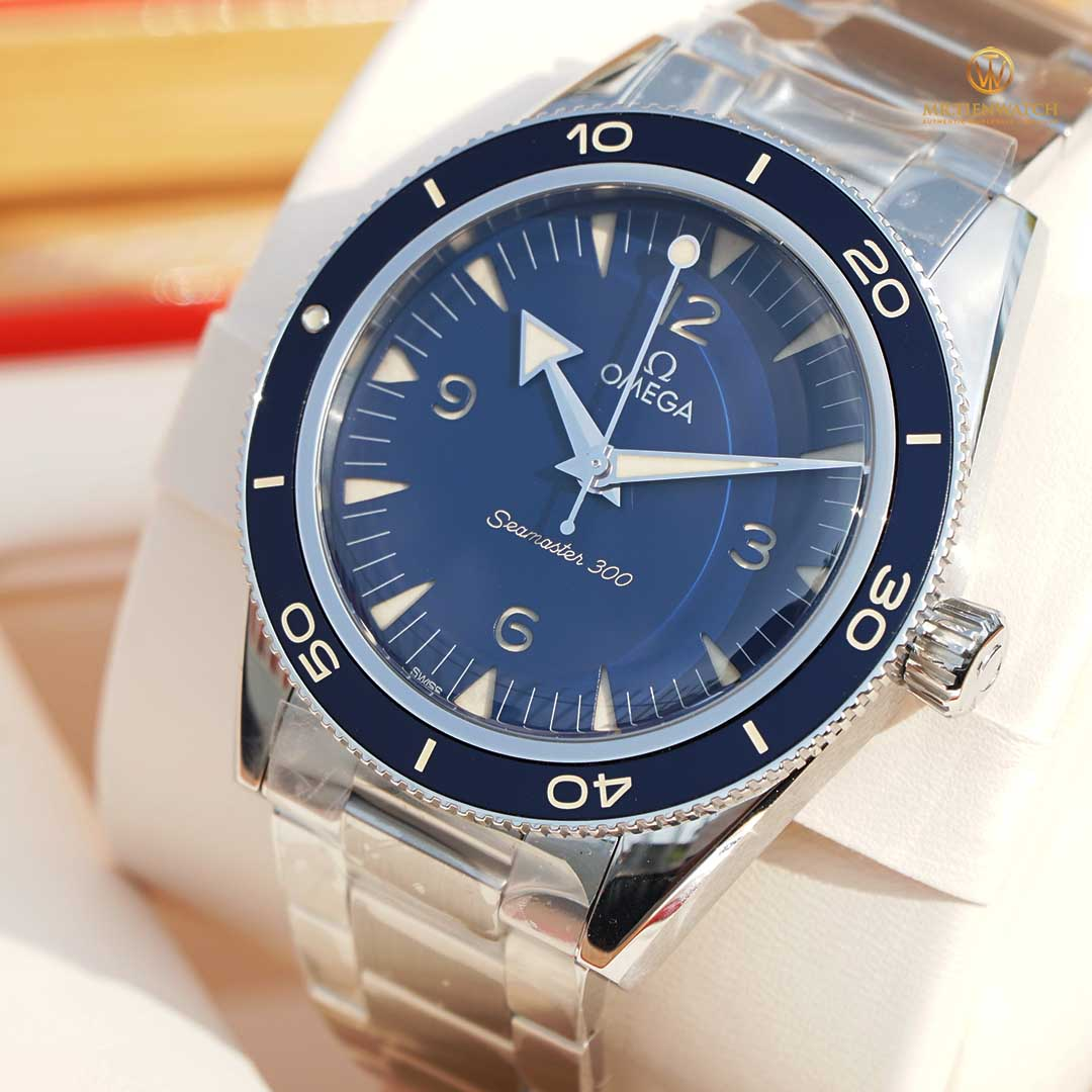 Omega SeaMaster Heritage 300 Co‑Axial Master Chronometer 41 MM 234.30.41.21.03.001 New model 2021, cổ điển sang trọng