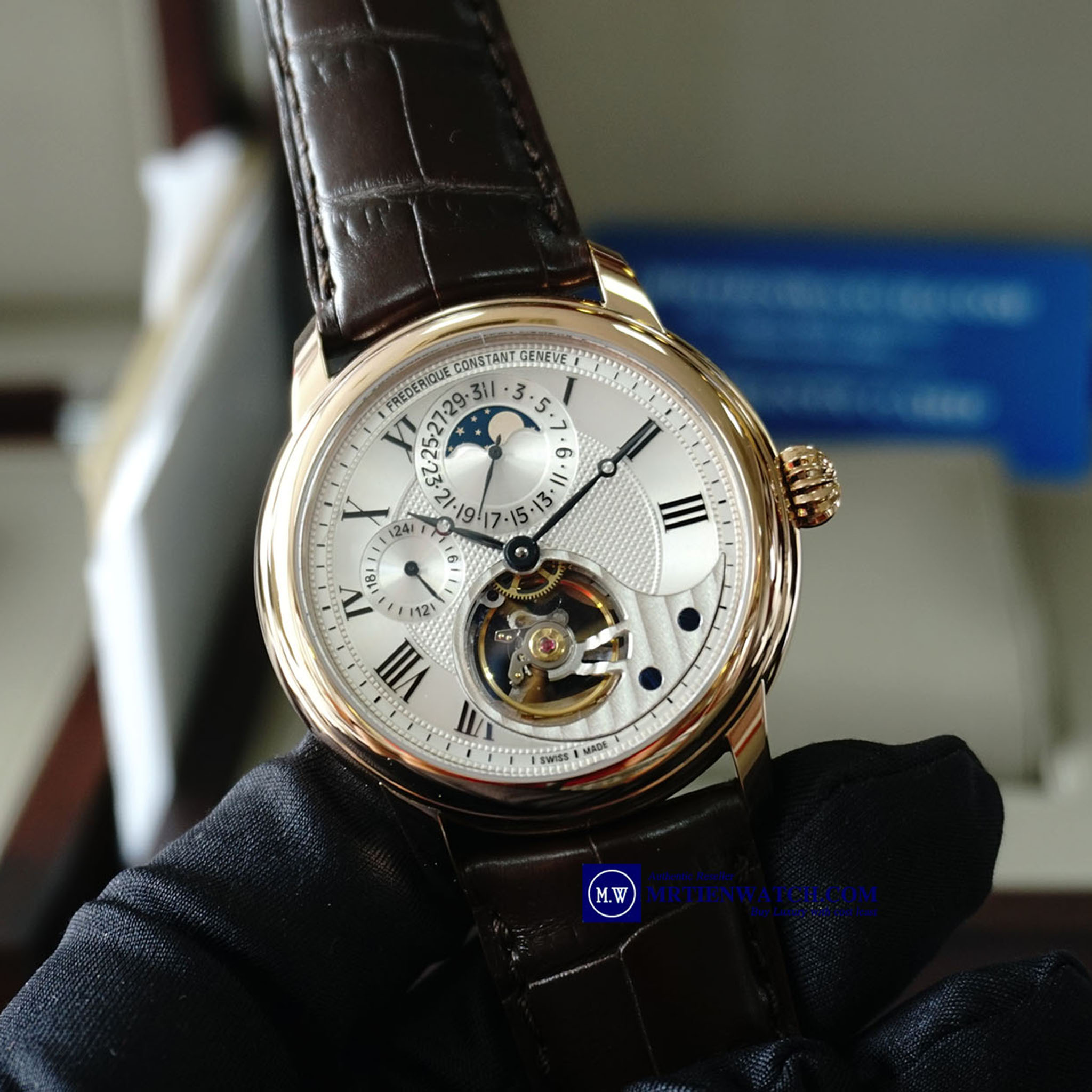 FREDERIQUE CONSTANT MANUFACTURE HEART BEAT 18K SOLID ROSE GOLD FC-945MC4H9 Moonphase Seri 9 Phiên bản giới hạn 888 chiếc