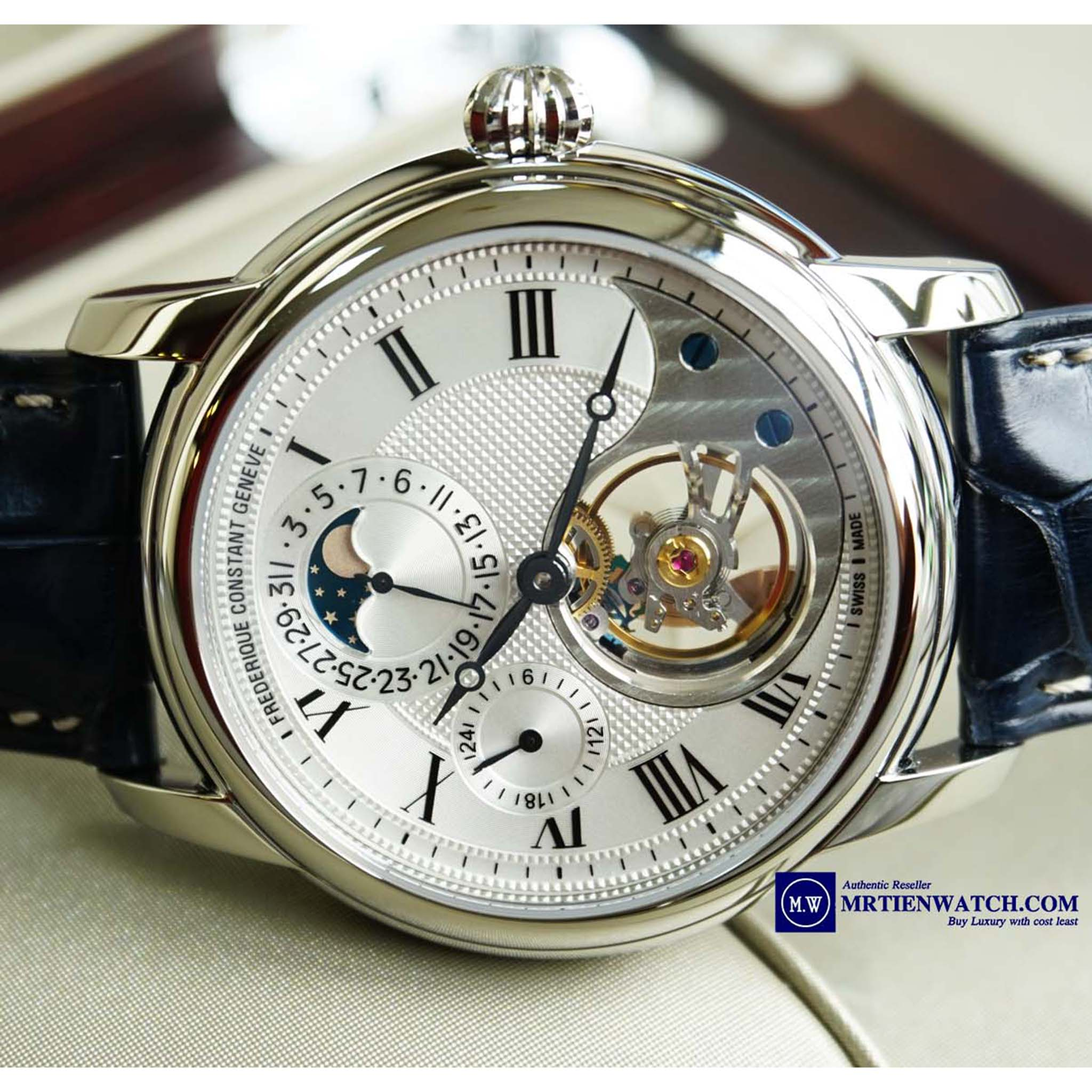 FREDERIQUE CONSTANT MANUFACTURE HEART BEAT MOONPHASE LEATHER STRAPS FC-945MC4H6 Heart Beat 2016 - Thép không gỉ