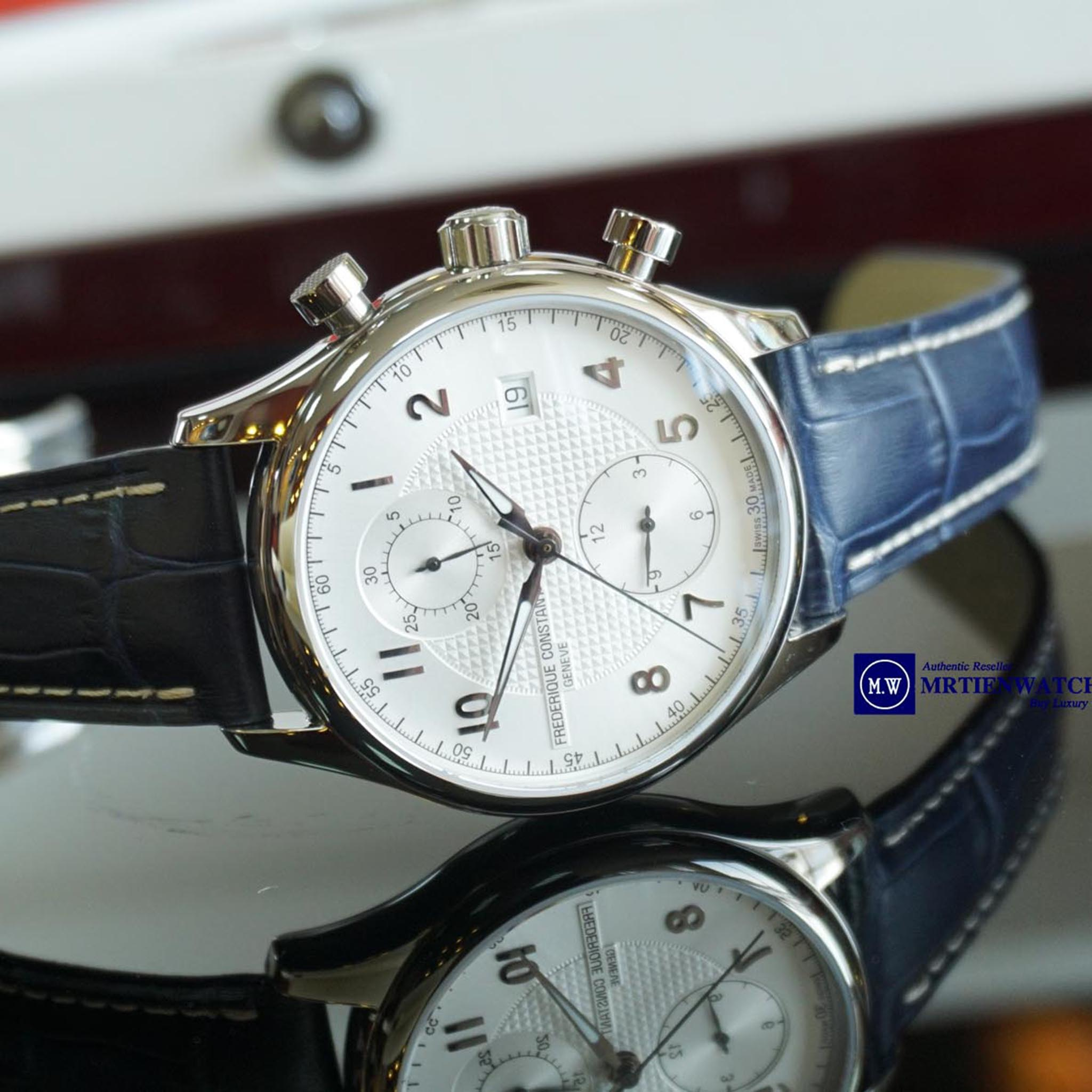 FREDERIQUE CONSTANT RUNABOUT CHRONOGRAPH AUTOMATIC LIMITED LEATHER STRAPS FC-393RM5B6 - Thép không rỉ
