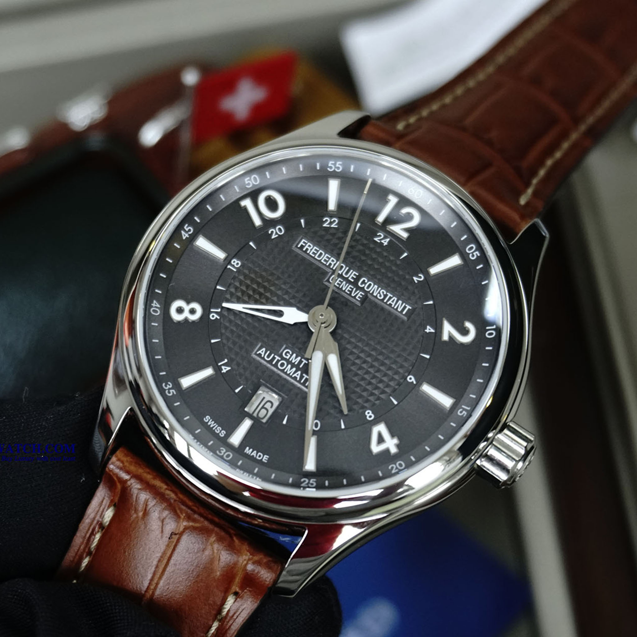 FREDERIQUE CONSTANT RUNABOUT GMT AUTOMATIC FC-350RMG5B6 Bản giới hạn Limited 2017 2888 chiếc - Thép không gỉ