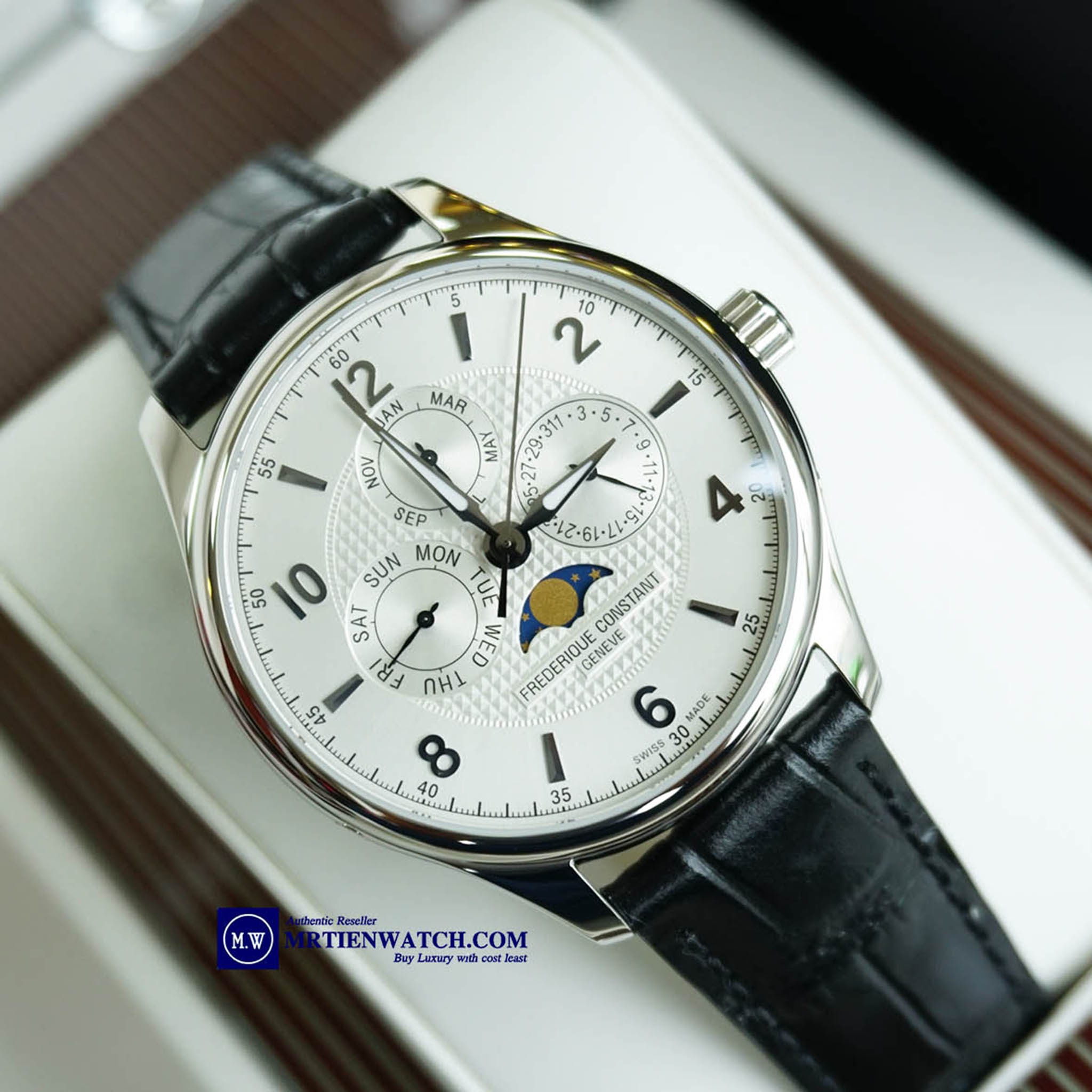 FREDERIQUE CONSTANT RUNABOUT MOONPHASE LIMITED 2888 FC-365RM5B6 Limited Run About 2016 - Thép không gỉ