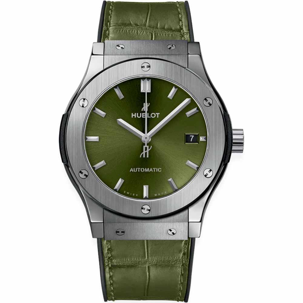 HUBLOT CLASSIC FUSION TITANIUM GREEN 45MM 511.NX.8970.LR TITANIUM