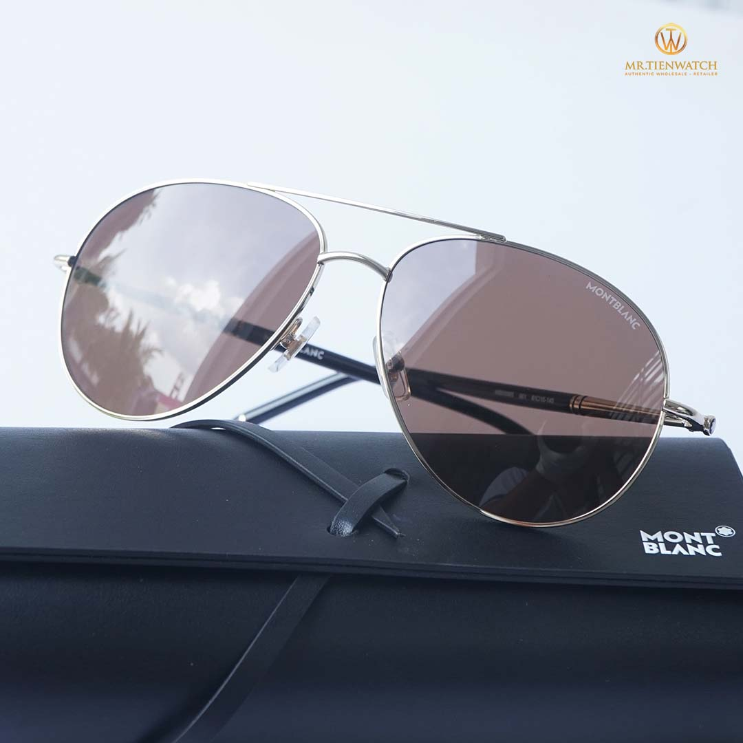 Kính râm Mont Blanc MB0068S-001 size 61 mm Sunglass chính hãng