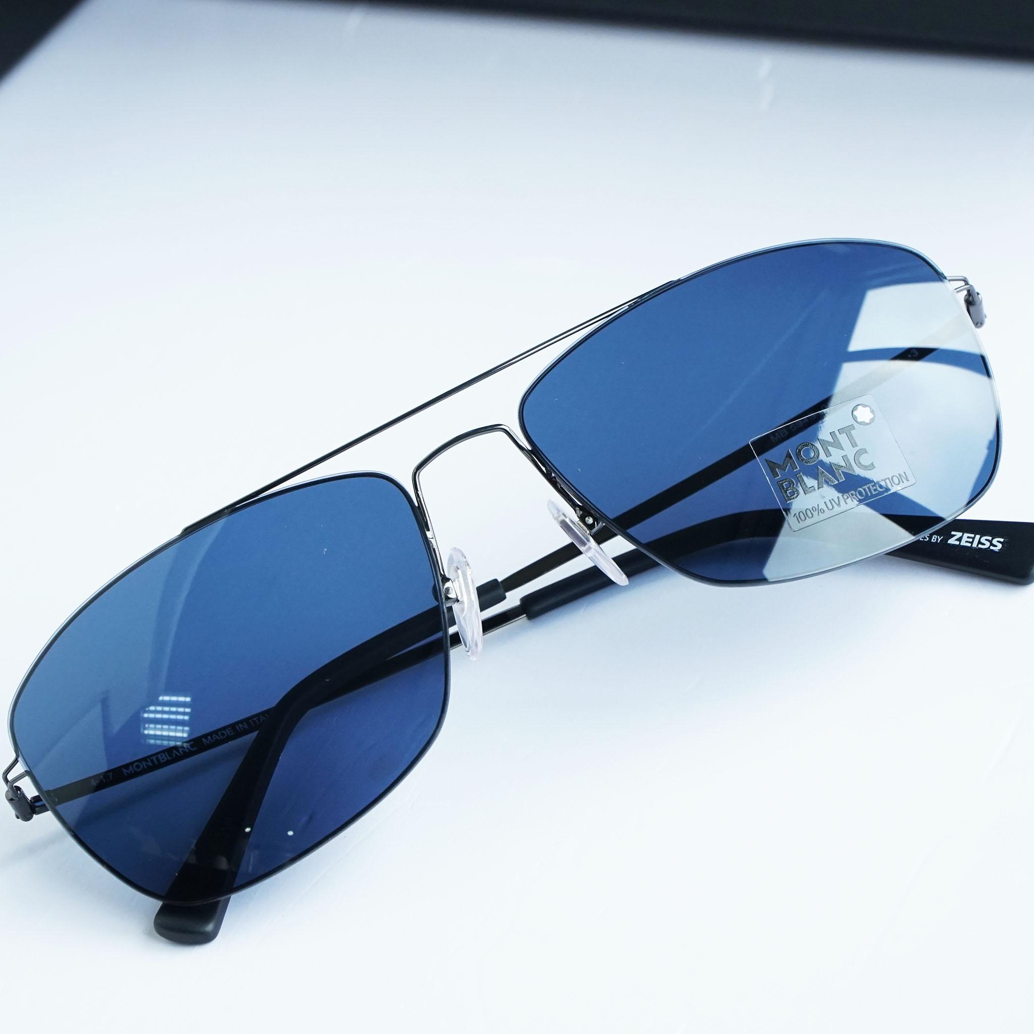 Kính râm Mont-Blanc Blue Square Sunglasses MB594S 08V chính hãng