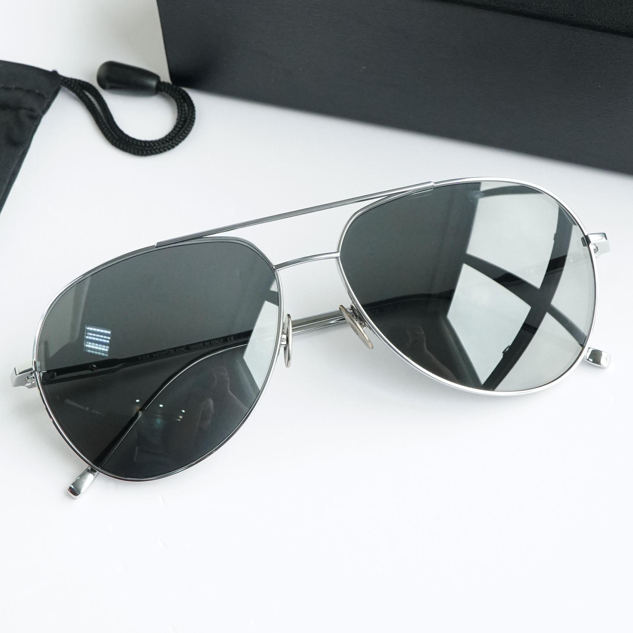 Kính mắt Mont-Blanc Grey Aviator Sunglasses MB657S 16A -61 chính hãng