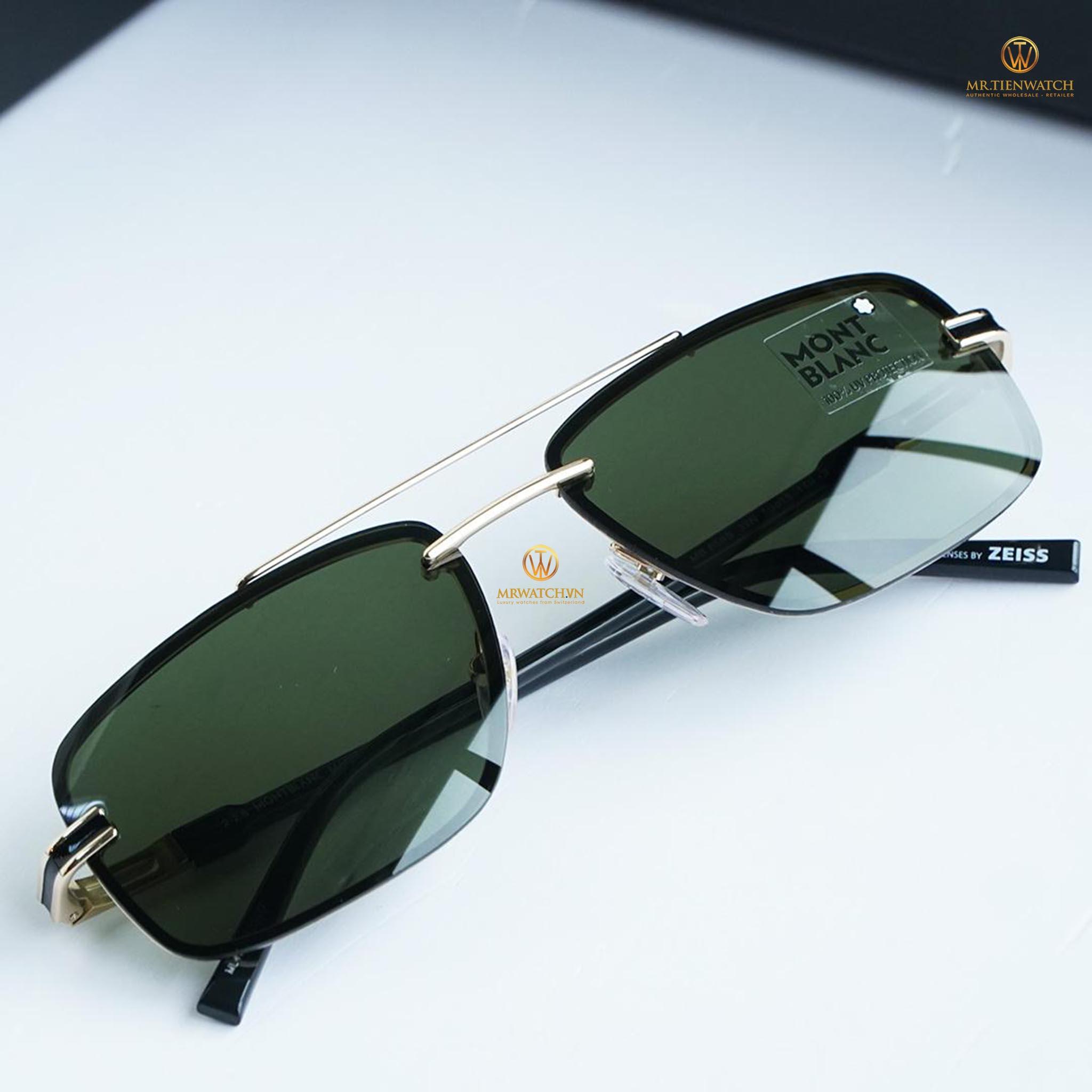 Kính râm Montblanc Rimless Sunglasses MB658S 32N Gold/Black 59mm chính hãng