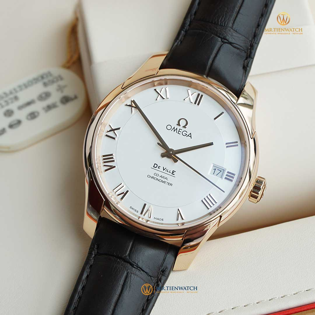OMEGA DE-VILLE CO‑AXIAL 41 MM 431.53.41.21.02.001 Vàng Đỏ 18k - Red Gold 18k