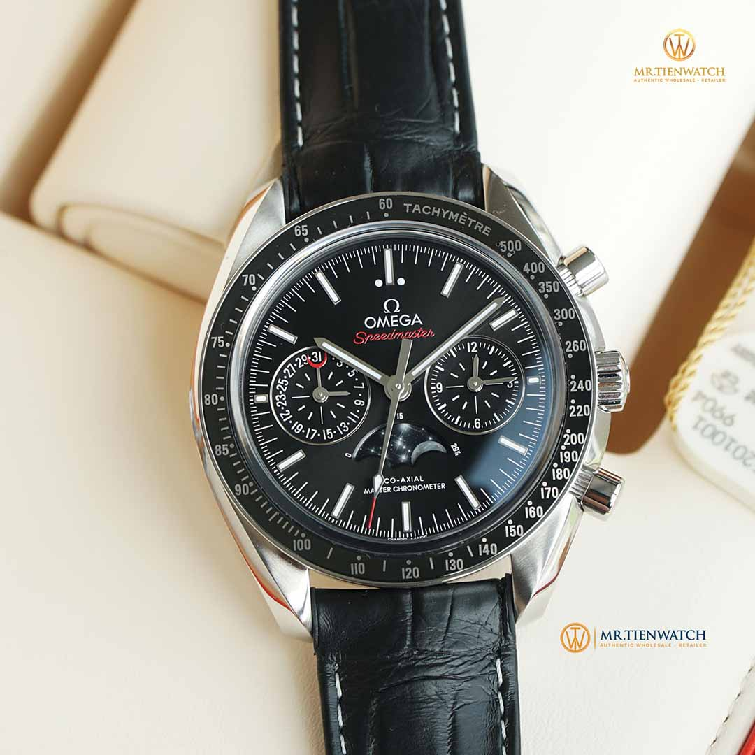 OMEGA SPEEDMASTER MOONWATCH CO‑AXIAL MASTER CHRONOMETER MOONPHASE CHRONOGRAPH 44.25 MM 304.33.44.52.01.001 Thép không gỉ - Steel on steel