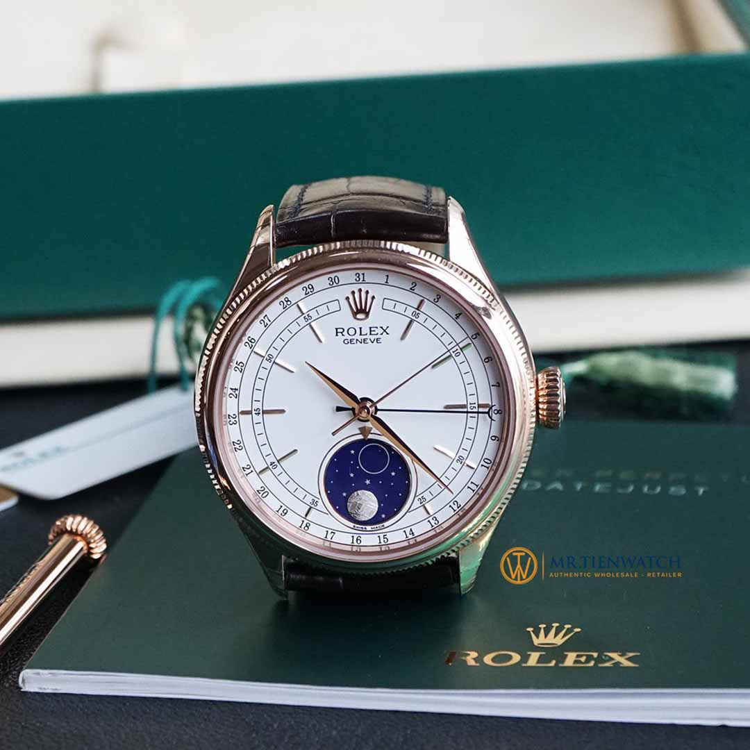 ROLEX CELLINI MOONPHASE 50535-0002 Everose Gold 18 ct, Finished Polishing, 39 mm