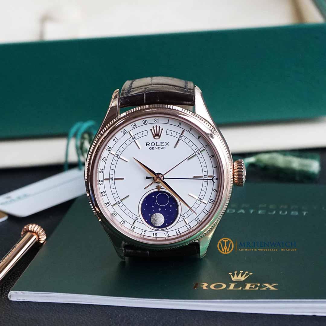 ROLEX CELLINI MOONPHASE 50535-0002 Everose Gold 18 ct, Finished Polishing, 39 mm